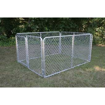 Stephens Pipe & Steel Kennel Complete 6ft X 8ft X 4ft Silver