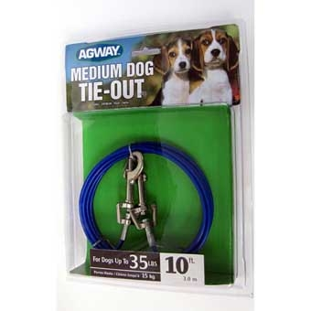 Agway Medium Dog Tie-out For Dogs Up To 35 Lb 10ft