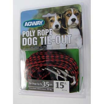 Agway Poly Rope Dog Tie-out For Dogs Up To 35 Lb 15ft