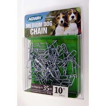Agway Medium Dog Twist Chain W/swivel Snap For Dogs Up To 35 Lb 10ft