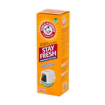 Arm & Hammer Large Drawstring Liners Clear 12 Ct