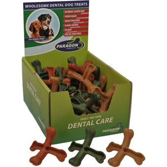 Paragon Dental Dog Treats Cross Bone