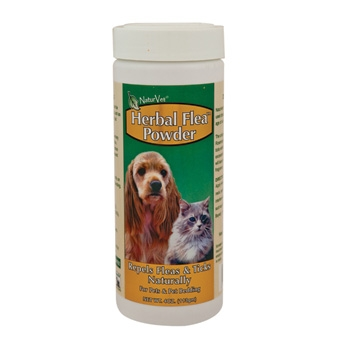 Naturvet Herbal Flea Powder For Dogs & Cats 4oz