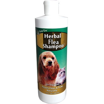 Naturvet Herbal Flea Shampoo For Dogs & Cats 16oz