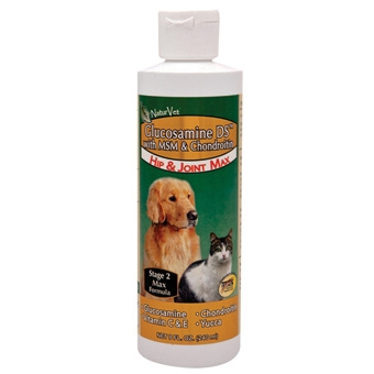 Naturvet Glucosamine-ds With Msm & Chondroitin - Hip & Joint Max 8oz