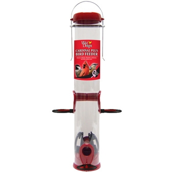 Wild Delight Cardinal Plus Bird Feeder Medium Red
