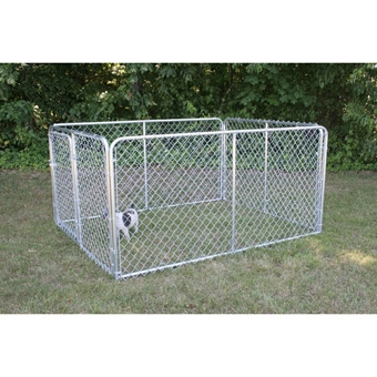 Stephens Pipe & Steel Kennel Complete 6x10x6 Silver