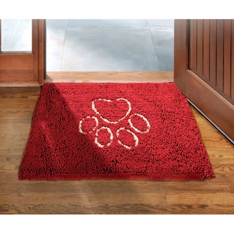 Dog Gone Smart Pet Dirty Dog Doormat Maroon 31in X 20in