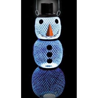 No/no Snowman Bird Feeder With Solar Hat 15in