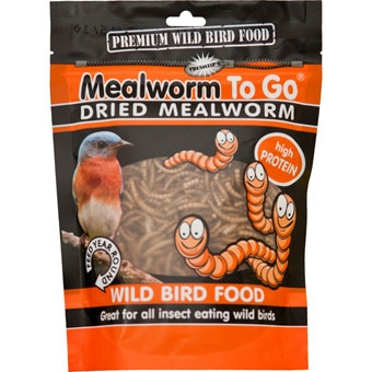 Unipet Mealworm To Go Premium Dried Wild Bird Food High Protein 3.53 Oz