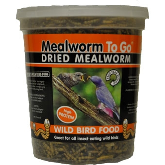 Unipet Mealworm To Go Dried Wild Bird Food High Protein Tub 5.5 Oz