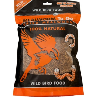 Unipet Mealworm To Go Dried Wild Bird Food 100% Natural 17.64 Oz