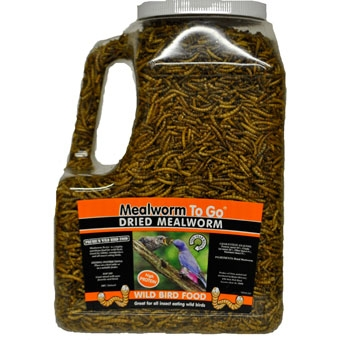 Unipet Mealworm To Go Dried Wild Bird Food Tub 30 Oz