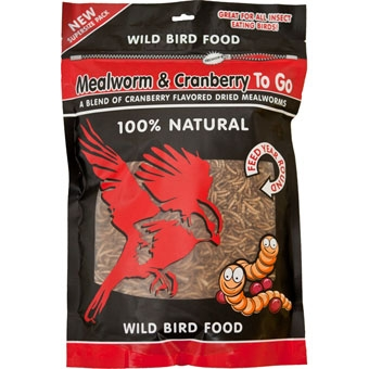 Unipet Mealworm & Cranberry To Go 100% Natural Wild Bird Food 17.64 Oz
