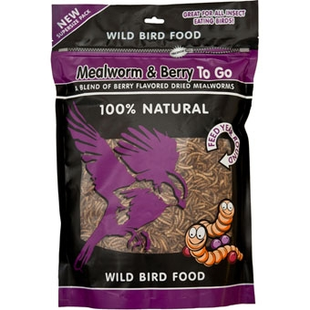 Unipet Mealworm & Berry To Go 100% Natural Wild Bird Food Berry Flavor 17.64 Oz