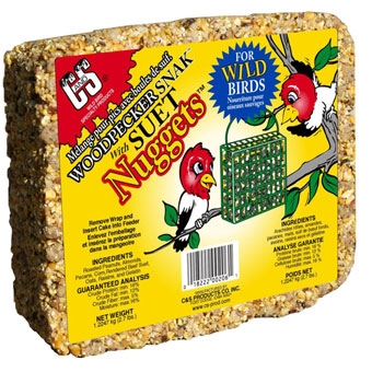 C & S Woodpecker Snak With Suet Nuggets Wild Bird Food 2.7 Lb