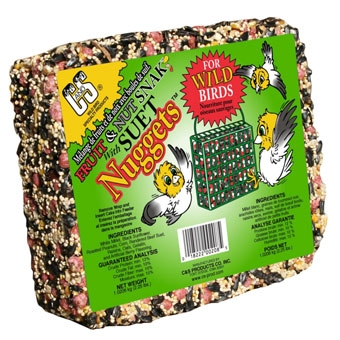 C & S Fruit & Nut Snak With Suet Nuggets Wild Bird Food 2.25 Lb