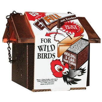C & S Ez Fill Bottom Suet Feeder For Wild Birds