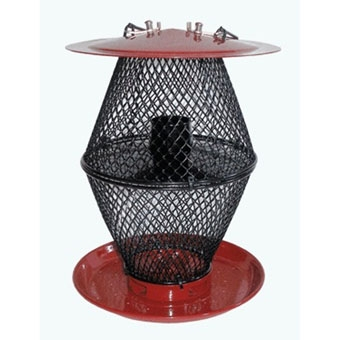 No/no Sunflower Lantern Bird Feeder Red