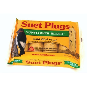 Wildlife Sciences Suet Plugs Sunflower Blend Wild Bird Food 4 Pk