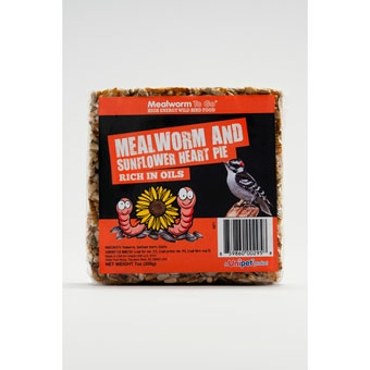 Unipet Mealworm And Sunflower Heart Pie High Energy Wild Bird Food 7 Oz