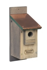 Feathered Friend Bluebird House with Copper Roof