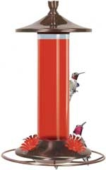 Perky Pet Brushed Metal Hummingbird Feeder 12 Oz
