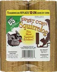 Sweet Corn Squirrel Log Refill 2pk