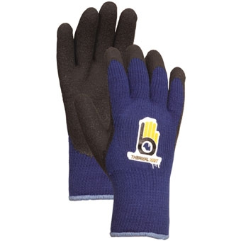 Bellingham Thermal Knit Glove With Rubber Palm Blue Large