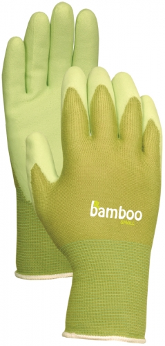 Atlas Bamboo Liner Glove With Rubber Palm Green Medium