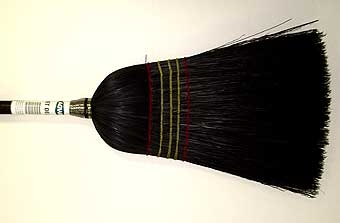 Agway # 6 Deluxe House Broom - Jet Black