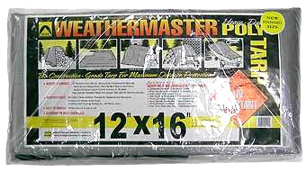 Heavy Duty Silver/black Tarp 12ft X 16ft