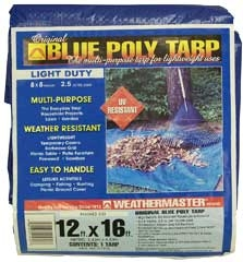 Blue Poly Tarp 12ft X 16ft