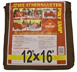 Brown Poly Tarp 12ft X 16ft