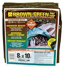 Weathermaster Poly Tarp 8ft X 10ft Brown/green