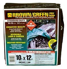 Weathermaster Poly Tarp 10ft X 12ft Brown/green