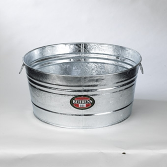 Behrens Galvanized Hot Dipped Round Tub 15 Gal