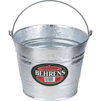 Behrens Galvanized Steel Household Pail 5 Qt