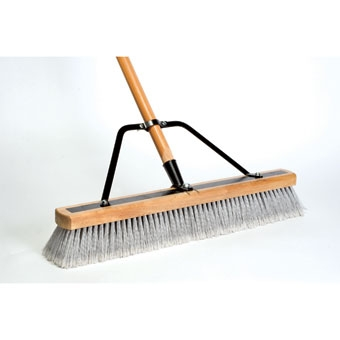 Dqb Contractor Sweep Reinforced Stiff/fine Push Broom 24in