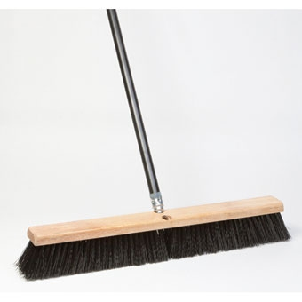 Dqb Floor Sweep Stiff Push Broom Black Poly 24in