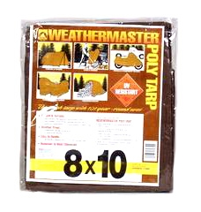 Brown Poly Tarp 8ft X 10ft