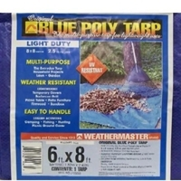 Blue Poly Tarp 6ft X 8ft