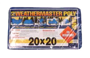 Blue Poly Tarp 20ft X 20ft