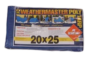 Blue Poly Tarp 20ft X 25ft