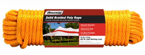 Solid Braided Poly Rope 1/2in X 75ft