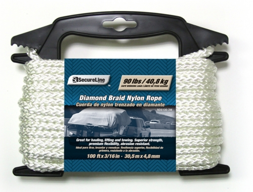 Diamond Braid Nylon Rope 3/16in X 100ft