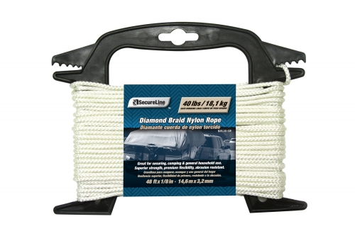 Diamond Braid Nylon Rope 1/8in X 48ft