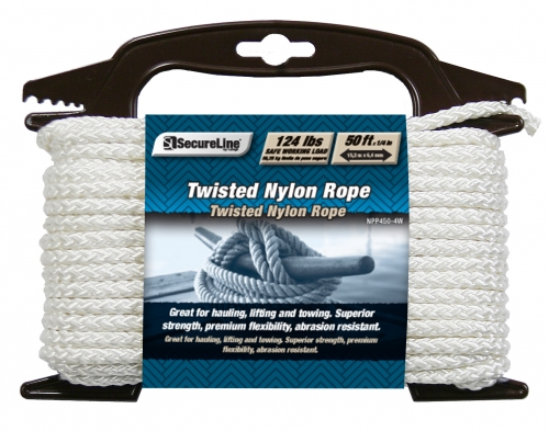 Twisted Nylon Rope 1/4in X 50ft