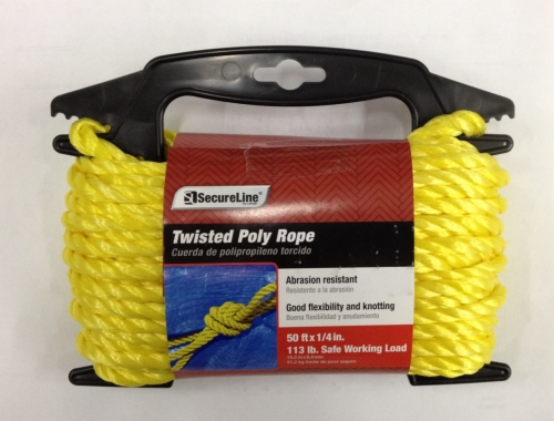 Twisted Poly Rope 1/4in X 50ft