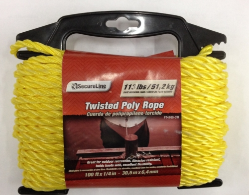 Twisted Poly Rope 1/4in X 100ft